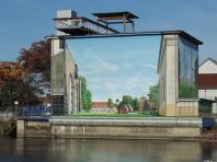Großprojekt Aquarium Schwedt, Fassadenkunst Berlin, Illusionsmalerei 360art
