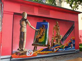 Energieunternehmen, 360 Art Referenz, Graffiti Fassademnalerei