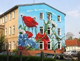 Kommune, Wandmalerei Haus, Graffitikunst