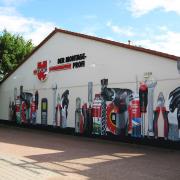 Firma Adolf Würth, Brandenburg an der Havel, Illusionsmalerei, künstlerische Objektgestaltung,  Malerei, Fassadengestaltung, Giebelmalerei, Fassadenmalerei,