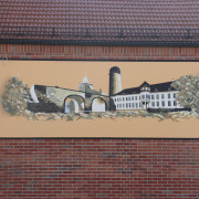 Premnitz 2 Gasthaus Retorte, Illusionsmalerei, künstlerische Objektgestaltung,  Malerei, Fassadengestaltung, Giebelmalerei, Fassadenmalerei,