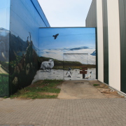 7 Stadtwerke Schwedt GmbH, Tierpark Schwedt, Vegetationszonen, künstlerische Objektgestaltung, Malerei, Fassadengestaltung, Giebelmalerei, Fassadenmalerei,