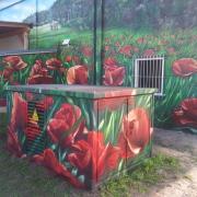 1 Stadtwerke Brandenburg an der Havel, künstlerische Objektgestaltung, Malerei, Fassadengestaltung, Giebelmalerei, Fassadenmalerei,