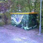 2 Stadtwerke Brandenburg an der Havel, künstlerische Objektgestaltung, Malerei, Fassadengestaltung, Giebelmalerei, Fassadenmalerei,