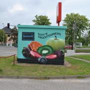 5 Stadtwerke Brandenburg an der Havel, künstlerische Objektgestaltung, Malerei, Fassadengestaltung, Giebelmalerei, Fassadenmalerei,