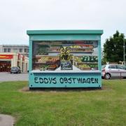 6 Stadtwerke Brandenburg an der Havel, künstlerische Objektgestaltung, Malerei, Fassadengestaltung, Giebelmalerei, Fassadenmalerei,