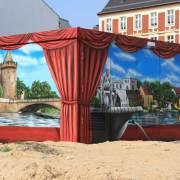 10 Stadtwerke Brandenburg an der Havel, künstlerische Objektgestaltung, Malerei, Fassadengestaltung, Giebelmalerei, Fassadenmalerei,
