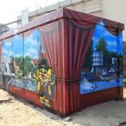 12 Stadtwerke Brandenburg an der Havel, künstlerische Objektgestaltung, Malerei, Fassadengestaltung, Giebelmalerei, Fassadenmalerei,