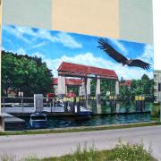10 TWG Teltow, Wohnungsbaugesellschaft,Fassadengestaltung, Giebelmalerei, Fassadenmalerei, Malerische Gestaltung, Illusionsmalerei , Trompe l'oeil, künstlerische Objektgestaltung