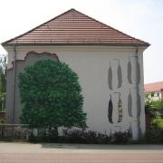 20 EG Stahl Brandenburg, Illusionsmalerei, trompe l'oeil  Malerei,Fassadengestaltung, Giebelmalerei, Fassadenmalerei,