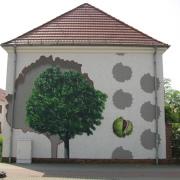 29 EG Stahl Brandenburg, Illusionsmalerei, trompe l'oeil  Malerei,Fassadengestaltung, Giebelmalerei, Fassadenmalerei,