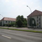 31 EG Stahl Brandenburg, Illusionsmalerei, trompe l'oeil  Malerei,Fassadengestaltung, Giebelmalerei, Fassadenmalerei,