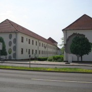 32 EG Stahl Brandenburg, Illusionsmalerei, trompe l'oeil  Malerei,Fassadengestaltung, Giebelmalerei, Fassadenmalerei,