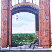 KWR Rathenow, Illusionsmalerei, künstlerische Objektgestaltung, Fassadenkunst, Malerei, Fassadengestaltung, Giebelmalerei, Fassadenmalerei, Fassadenbild, Fassadenbeschriftung, Graffiti Kunst, Kunst am Bau, 360art,