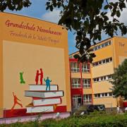 Schule Nennhausen, Fassadenbeschriftung, künstlerische Objektgestaltung 360art