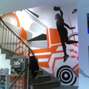 2 Fassadengestaltung, Giebelmalerei, Fassadenmalerei, Malerische Gestaltung, Gemälde, Leinwand, Illusionsmalerei , Trompe l'oeil, künstlerische Objektgestaltung, Graffiti