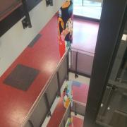 OSZ Havelland 1 Fassadengestaltung, Giebelmalerei, Fassadenmalerei, Malerische Gestaltung, Gemälde, Leinwand, Illusionsmalerei , Trompe l'oeil, künstlerische Objektgestaltung, Graffiti