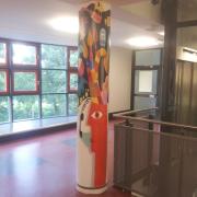 OSZ Havelland 2 Fassadengestaltung, Giebelmalerei, Fassadenmalerei, Malerische Gestaltung, Gemälde, Leinwand, Illusionsmalerei , Trompe l'oeil, künstlerische Objektgestaltung, Graffiti