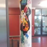 OSZ Havelland 3 Fassadengestaltung, Giebelmalerei, Fassadenmalerei, Malerische Gestaltung, Gemälde, Leinwand, Illusionsmalerei , Trompe l'oeil, künstlerische Objektgestaltung, Graffiti