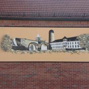 Premnitz Gasthaus Retorte,Fassadengestaltung, Giebelmalerei, Fassadenmalerei, Malerische Gestaltung, Gemälde, Leinwand, Illusionsmalerei , Trompe l'oeil, künstlerische Objektgestaltung, Graffiti