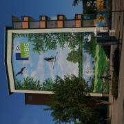 Premnitz, WBG Wohnungsbaugesellschaft, Illusionsmalerei, künstlerische Objektgestaltung, Fassadenkunst, Malerei, Fassadengestaltung, Giebelmalerei, Fassadenmalerei, Fassadenbild, Fassadenbeschriftung, Graffiti Kunst, Kunst am Bau, 360art,