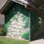 Rathenow 3 Fassadengestaltung,  Fassadenmalerei, künstlerische Objektgestaltung,  Malerische Gestaltung, , Leinwand, Illusionsmalerei , Trompe l'oeil,  Graffitiauftrag