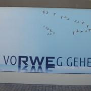 RWE Energieversorger , Fassadengestaltung,  Fassadenmalerei, künstlerische Objektgestaltung,  Malerische Gestaltung, , Leinwand, Illusionsmalerei , Trompe l'oeil,  Graffitiauftrag