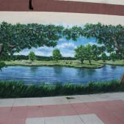 Milow Fassadengestaltung,  Fassadenmalerei, künstlerische Objektgestaltung,  Malerische Gestaltung, , Leinwand, Illusionsmalerei , Trompe l'oeil,  Graffitiauftrag