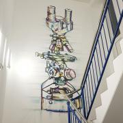 Askania Mikroskop Technik , Kreative Wandgestaltung, Ilusionsmalerei, künstlerische Objektgestaltung, Fassadenkunst, Malerei, Fassadengestaltung, Fassadenmalerei, Fassadenbild, Fassadenbeschriftung, Schweiz,Graffiti Kunst, bemalung,Wandmalerei
